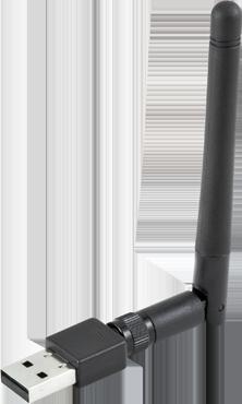 USB W-LAN Dongle, schwarz